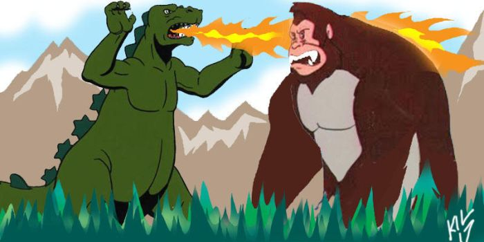 HB Godzilla vs RB King Kong! by Koku-chan