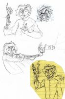 Assorted Lalna sketches by MissMistyMoo
