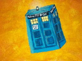 First Tardis painting! by DragonsAndDreamscape