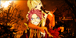 Natsu and Lucy Halloween by HookRf