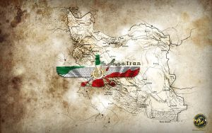 Iranian Map - free Iran by arasch
