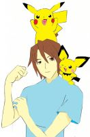 me and my pokemon recolour by Virexius