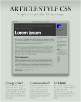 Article Style CSS by electricnet