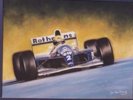 The late great Ayrton Senna by Rayvenjan