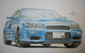 Nissan Skyline R34 by Millo97