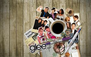 GLEE Scrapbook Wallpaper by SoIronicallyRadical