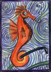Seahorse and Swirls by GraphiteWeb