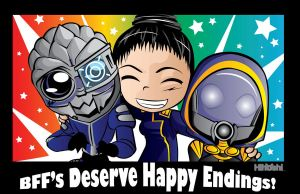 Mass Effect 3 Happy Endings by Hihoshi