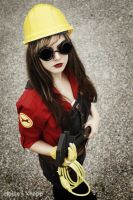 TF2 Fem Engineer Cosplay 3 by leAlmighty