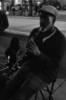 A man and his clarinet by cyph3r-photography