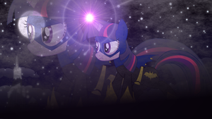 Twilight Sparkle as Batmare (desktop wallpaper) by Joeycrick