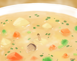 Little pepper in soup island by helin666