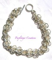 Chain maille bracelet by PurpletigerCreations