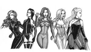 X-girls by icyheart