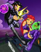 Blackfire Vs Starfire by parallellogic