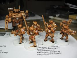 Speedpainted firewarriors by Durnstaros
