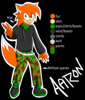 Aaron The Moongose REF by SapphiresFlame