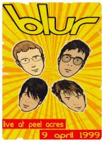 Blur Gig Poster by andy2519