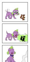 Spike vs. Squirrel (Legend of Everfree) by Pony4Koma