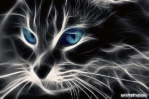 Cat (Fractalius Effect) by MisterSev7n