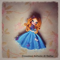 #cinderella #disney #clay #handmade by AngelaDafne