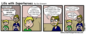 Life with Superheroes #17 by ZacAvalanche