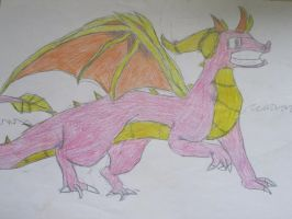 My old pictures 37:Spyro by NewMoon-Dragoness