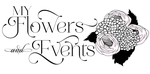 My Flowers and Events - Logo Design Concept 3B by ADamselinDesign