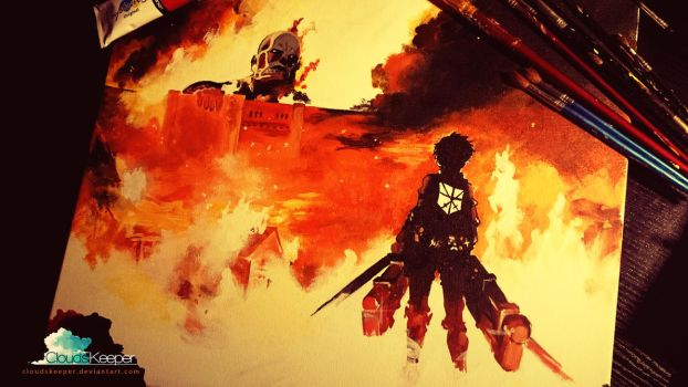 Attack on Titan - Painting by CloudsKeeper