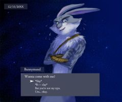 Bunny in otome game by CottonValent