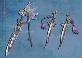 Custom Sword and Dagger Set by Forged-Artifacts