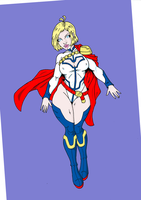 My Powergirl Colored by angelupstart