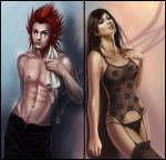 Commission: Axel x Tifa by acidlullaby