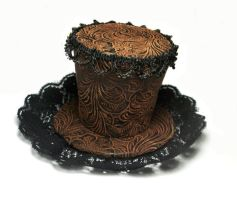 Mini Pleather Top Hat by salvagedsword