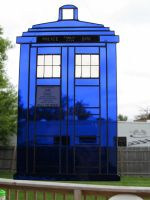 Doctor Who Stained Glass Tardis Close Up by captivefancy