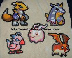 Perler Bead Digimon Sprites by pinkdramon