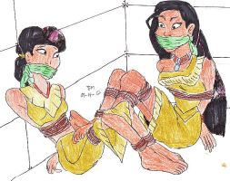 TWO INDIAN MAIDENS CAPTURED by Godzilla713