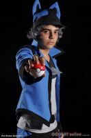 Cosplay Lucario Trainer by LucSmash