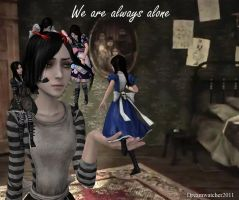 Alice Madness- Always alone by Dreamwatcher2011