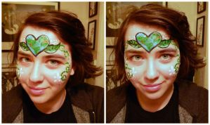 Earth Day Face Paint by BengalTiger4