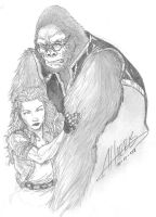 Monkeyman and Obrien sketch by anthonyharrisart