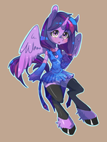 Anthro: Twilight Sparkle by Tomat-in-Cup