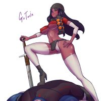 Tf2 Demoknight Female 1 by gotwin9008