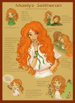 Maelys:character sheet by SpectralFairy