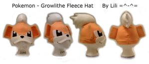 1st Gen - Growlithe Hat by LiliNeko