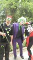 Harley Quinn, Joker and Riddler by Octaviana
