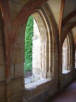 lorch abbey passageway by Jantiff-Stocks