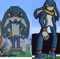 King sorrow before and after pixel arts by sheezy93