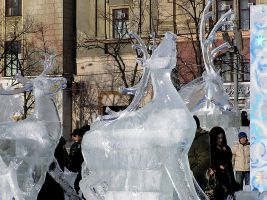 Three ice reindeer by saltov-man