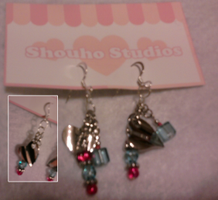 Blue Heart Earrings by NAKino